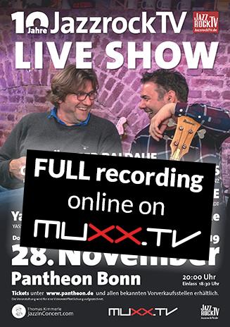 JazzrockTV LIVE SHOW 2019 - Replay