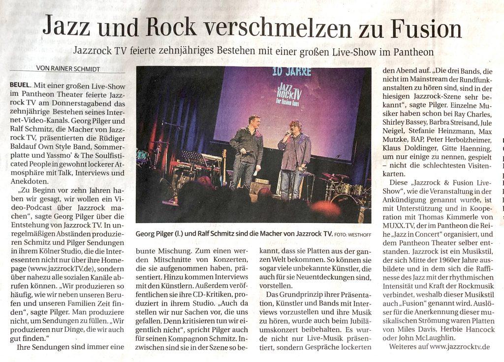10 Jahre JazzrockTV - Newspaper